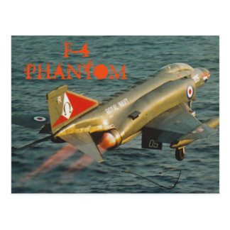 F-4幻影の戦闘機 葉書き
