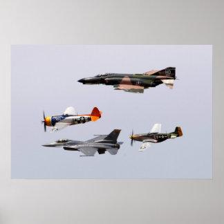 F-4幻影、P-47落雷、F-16戦いのFalco ポスター
