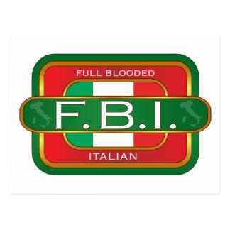 F Bのイタリア語 ポストカード