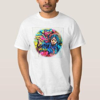 F.Bizoの白によるサイケデリックなティー Tシャツ