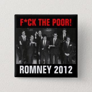 F*CK悪いRomney 2012年 5.1cm 正方形バッジ