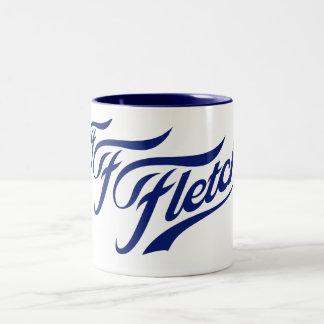 F F Fletchの青のマグ ツートーンマグカップ