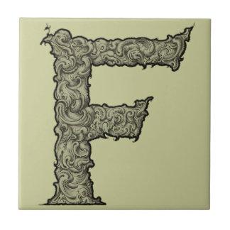 F - Falckのアルファベット(金) タイル