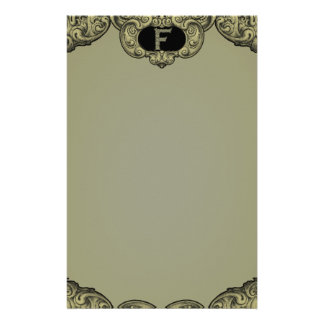 F - Falckのアルファベット(金) 便箋