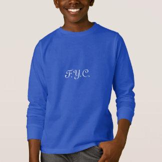 F.Y.C.  青年雪のロゴのフード付きスウェットシャツ Tシャツ