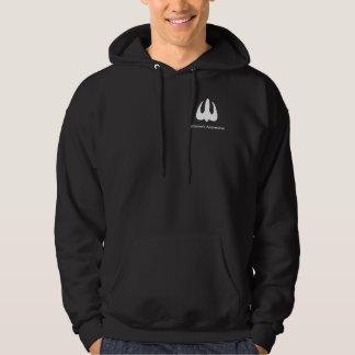 Faの前部及び背部ロゴの暗闇のフード付きスウェットシャツ パーカ