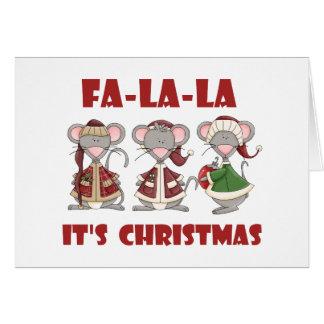 FaのLaのLaのクリスマスのTシャツおよびギフト カード