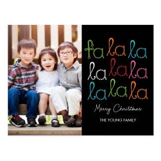 FaのLaのLaの休日の写真カード郵便はがき ポストカード