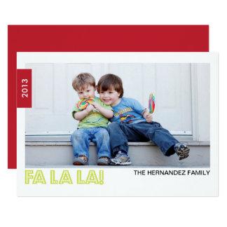 FAのLAのLAの休日の写真カード カード
