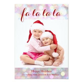 Faのlaのlaのlaの休日の写真カード カード