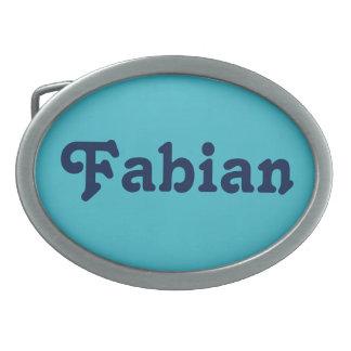 Fabianベルトの留め金 卵形バックル