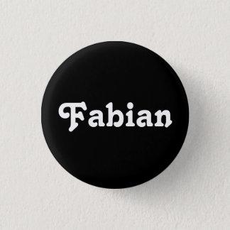 Fabianボタン 3.2cm 丸型バッジ