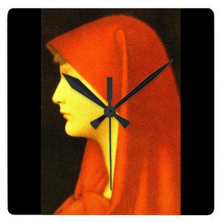 Fabiola',ジーンジェイクスHenner_Portraits スクエア壁時計