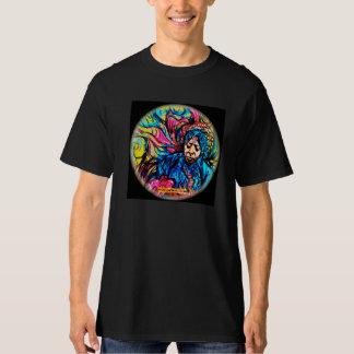 Fabricio Bizoが絵を描くサイケデリックなティー Tシャツ