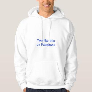 Facebookのこれを好みます パーカ