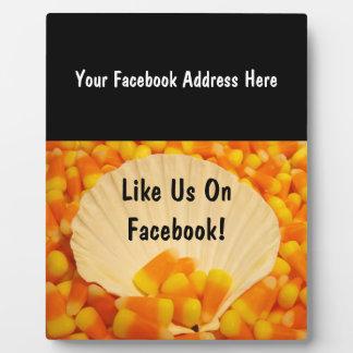 Facebookの印のカウンターのプラクキャンデートウモロコシの私達のように フォトプラーク