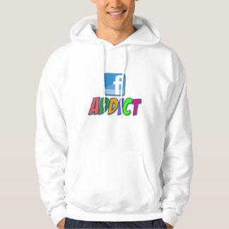 Facebookの常習者のフード付きスウェットシャツ パーカ