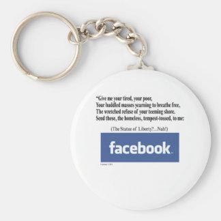 Facebookの概念 キーホルダー