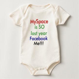Facebookの私!!! ベビーボディスーツ