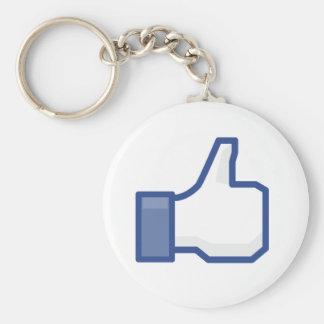 facebookの親指は写実的なキーホルダーを好みます キーホルダー