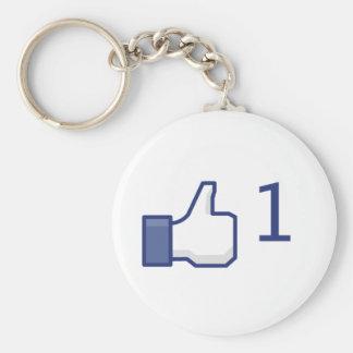 facebookはボタンを好みます キーホルダー
