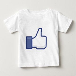 Facebookはボタンを好みます ベビーTシャツ