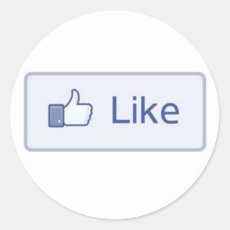 Facebookは好みます ラウンドシール