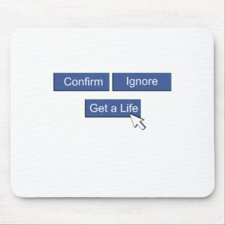 Facebookは生命を得ます マウスパッド