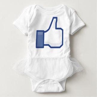 facebookは私を賛成好みます! ベビーボディスーツ