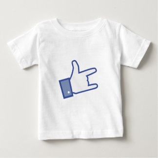 Facebookは親指のロックンロールアイコンを揺するのを好みます ベビーTシャツ