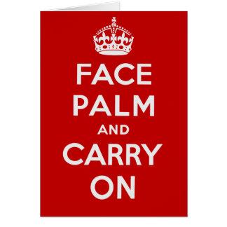 FacepalmおよびCarry On -それは不運の日です ノートカード