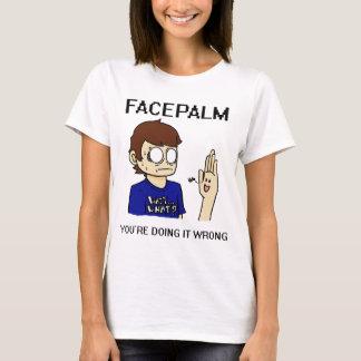 Facepalmか。 Tシャツ