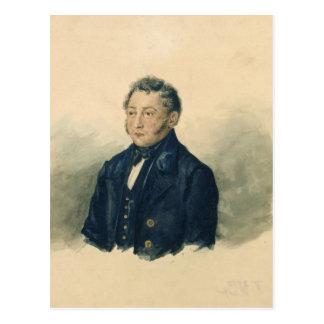 Faddey Venediktovich Bulgarin、c.1840のポートレート ポストカード