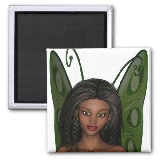 Faerie 1緑の翼の女性- 3D妖精- マグネット