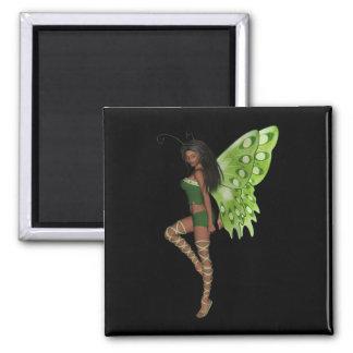 Faerie 7緑の翼の女性- 3D妖精- マグネット