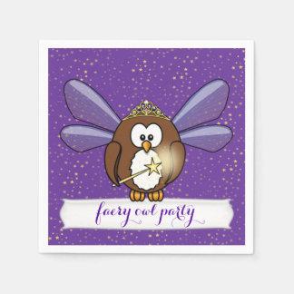 faeryのフクロウ スタンダードカクテルナプキン