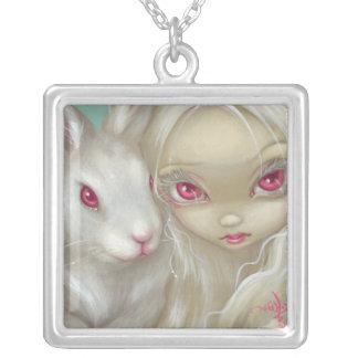 Faery 100のネックレスの白人のウサギの妖精の顔 シルバープレートネックレス
