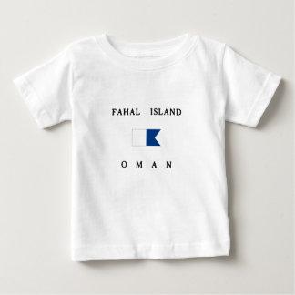 Fahalの島のオマーンのアルファ飛び込みの旗 ベビーTシャツ