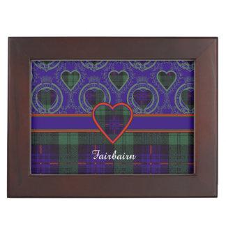 Fairbairnの一族の格子縞のスコットランドのキルトのタータンチェック ジュエリーボックス