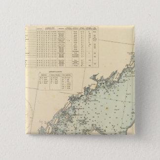 Fairfield郡コネチカットのロングアイランドNY 5.1cm 正方形バッジ