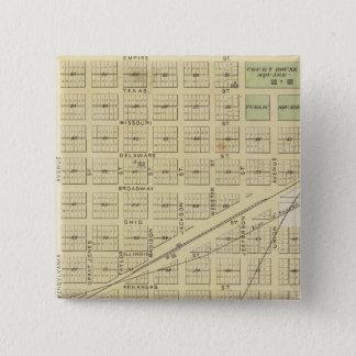 Fairfield、Suisun 5.1cm 正方形バッジ