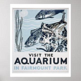 Fairmount公園のアクアリウムのヴィンテージWPAポスター ポスター
