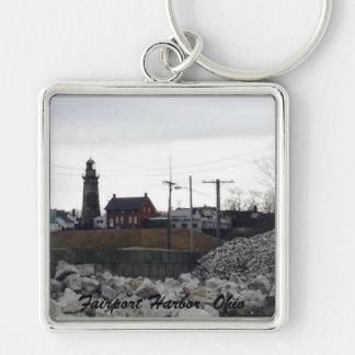 Fairportのオハイオ州港の写真のキーホルダー キーホルダー