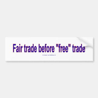 FairTradeBeforeFree バンパーステッカー
