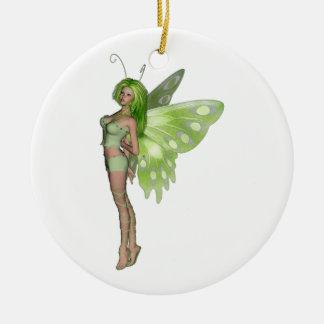 Fairy 2緑の女性- 3Dファンタジーの芸術- セラミックオーナメント