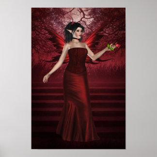 Fairy Posterバレンタインの女性 ポスター