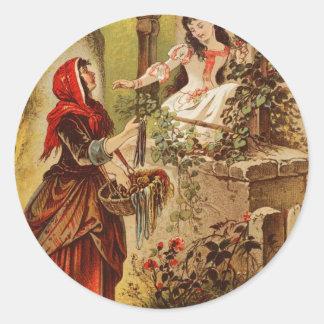 Fairytalesque。 眠れる森の美女およびシンデレラ ラウンドシール