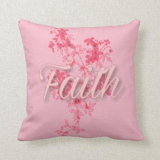 """Faith Throw Pillow (16"""" x 16"""") クッション"""