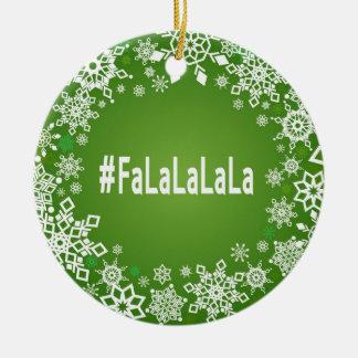 #FaLaLaLaLaのオーナメント セラミックオーナメント