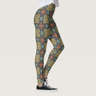 Fall Color Pattern Leggings レギンス